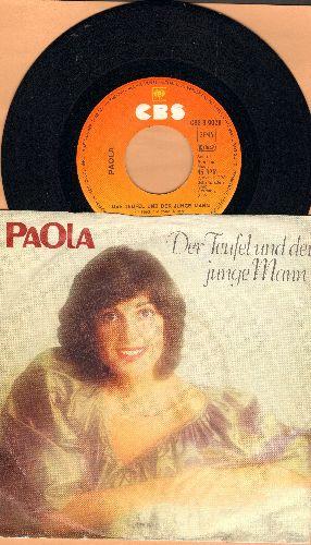 Paola - Der Teufel und der junge Mann (Man kann es nicht hoern, man kann es nicht she'n)/Amazing Grace (German Pressing with picture sleeve) - NM9/VG7 - 45 rpm Records