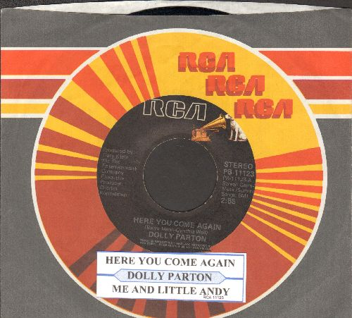 Parton, Dolly - Here You Come Again/Me And Little Andy (with juke box label and RCA company sleeve) - EX8/ - 45 rpm Records
