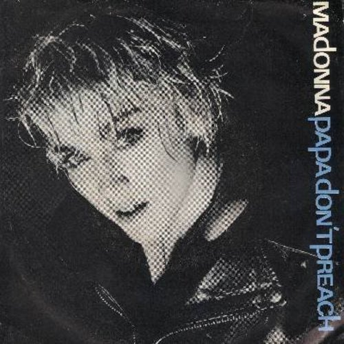 Madonna - Papa Don't Preach/Pretender (with picture sleeve) - NM9/EX8 - 45 rpm Records