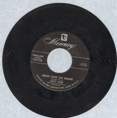 Page, Patti - Cross Over The Bridge/Johnny Guitar - VG7/ - 45 rpm Records