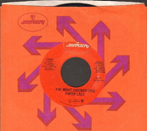 Paper Lace - The Night Chicago Died/Can You Get It When You Want It (red label early pressing with company sleeve) - EX8/ - 45 rpm Records