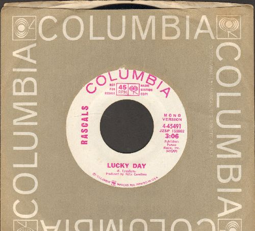 Rascals - Lucky Day (double-A-sided DJ advance pressing with Columbia company sleeve) - NM9/ - 45 rpm Records