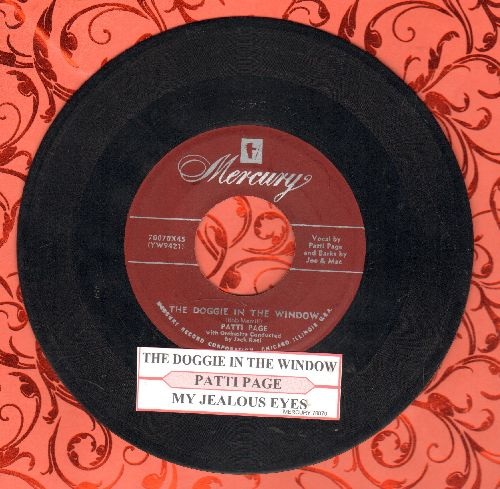 Page, Patti - The Doggie In The Window/My Jealous Eyes (with juke box label) - VG7/ - 45 rpm Records