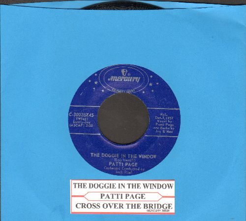 Page, Patti - The Doggie In The Window/Cross Over The Bridge (double-hit re-issue with juke box label) - NM9/ - 45 rpm Records