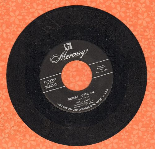 Page, Patti - Repeat After Me/Learnin' My Latin - EX8/ - 45 rpm Records