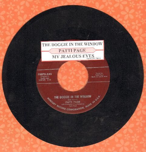 Page, Patti - The Doggie In The Window/My Jealous Eyes (with juke box label)(sol) - EX8/ - 45 rpm Records