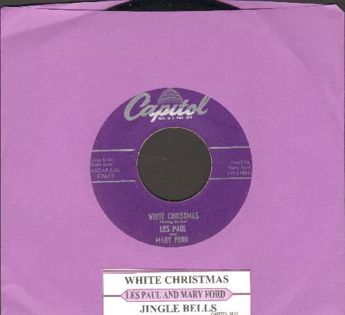 Paul, Les & Mary Ford - White Christmas/Jingle Bells (with juke box label) - EX8/ - 45 rpm Records