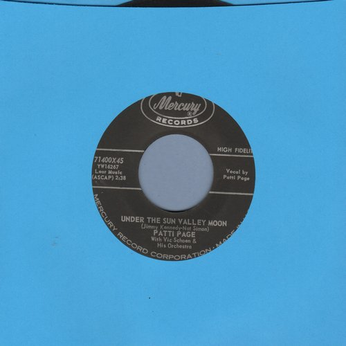 Page, Patti - Under The Sun Valley Moon/Trust In Me (with original company sleeve) - EX8/ - 45 rpm Records