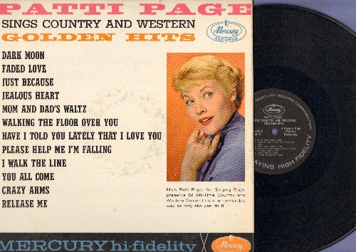 Page, Patti - Patti Page Sings Country And Western Golden Hits: Jealous Heart, Dark Moon, I Walk The Line, Release Me, Dark Moon (Vinyl MONO LP record) - NM9/EX8 - LP Records