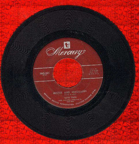 Page, Patti - Mister And Mississippi/These Things I Offer You - VG7/ - 45 rpm Records