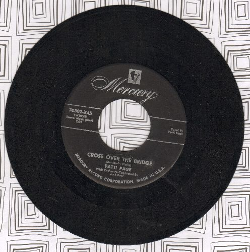 Page, Patti - Cross Over The Bridge/Johnny Guitar - EX8/ - 45 rpm Records