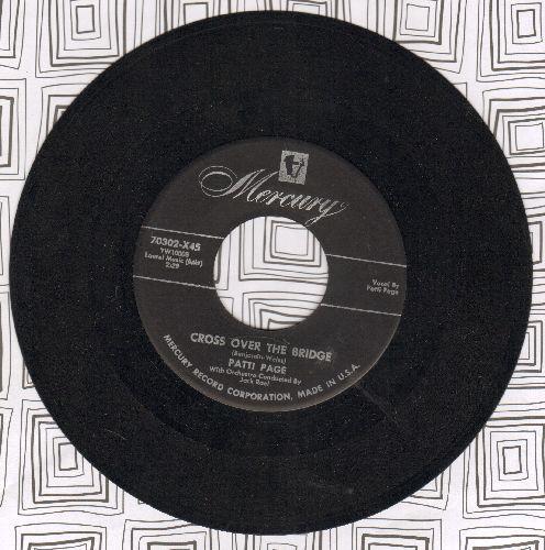 Page, Patti - Cross Over The Bridge/Johnny Guitar - EX8/ - 45 rpm Records