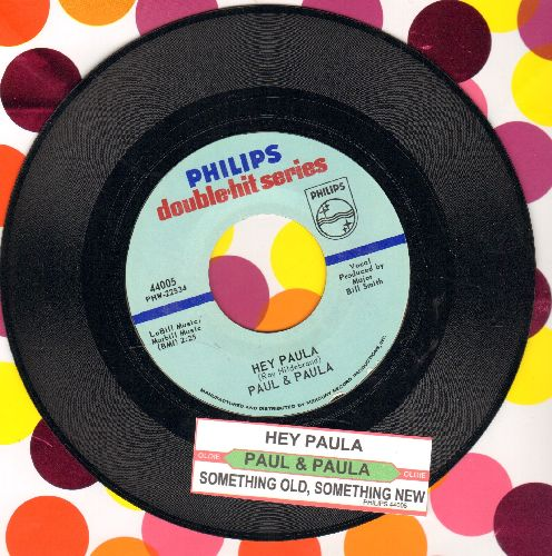Paul & Paula - Hey Paula/Something Old, Something New (Something Borrowed, Something Blue) (re-issue with juke box label) - M10/ - 45 rpm Records
