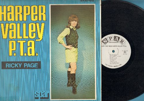Page, Ricky - Harper Valley P. T. A.: Ode To Billy Joe, To Sir With Love, This Is My Song, Pata Pata, Georgy Girl (Vinyl STEREO LP record) - NM9/VG7 - LP Records