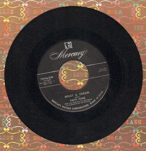 Page, Patti - What A Dream/I Cried - VG7/ - 45 rpm Records