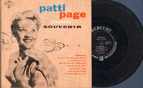Page, Patti - Song Souvenir: They Can't Take That Away From Me, Remember Me, Red Sails In The Sunset, It's A Sin To Tell A Lie (Vinyl 10 inch LP with picture cover) - VG7/EX8 - LP Records