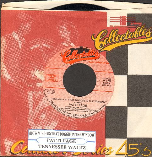 Page, Patti - Tennessee Walt/(How Much Is) That Doggie In The Window (double-hit re-issue with company sleeve) - NM9/ - 45 rpm Records
