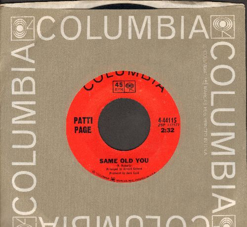 Page, Patti - Same Old You/Walkin' - Just Walkin' (with Columbia company sleeve) - NM9/ - 45 rpm Records