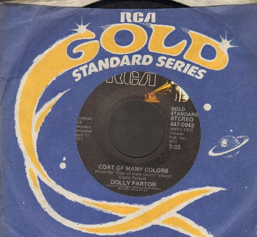 Parton, Dolly - Coat Of Many Colors/Touch Your Woman (re-issue with RCA company sleeve) - NM9/ - 45 rpm Records