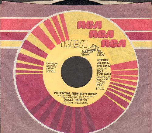 Parton, Dolly - Potential New Boyfriend (double-A-sided DJ advance pressing with RCA company sleeve) - NM9/ - 45 rpm Records