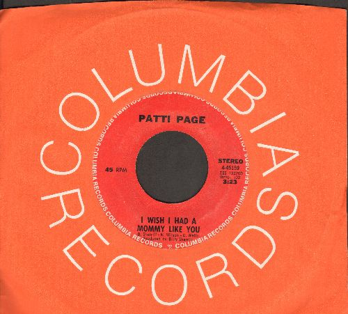 Page, Patti - I Wish I Had A Mommy Like You/He'll Never Take The Place Of You (with Columbia company sleeve) - NM9/ - 45 rpm Records