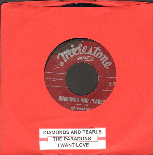 Paradons - Diamonds And Pearls/I Want Love (burgundy label first issue with juke box label) - VG7/ - 45 rpm Records