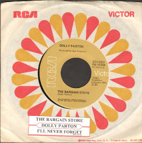 Parton, Dolly - The Bargain Store/I'll Never Forget (with RCA company sleeve and juke box label) - NM9/ - 45 rpm Records