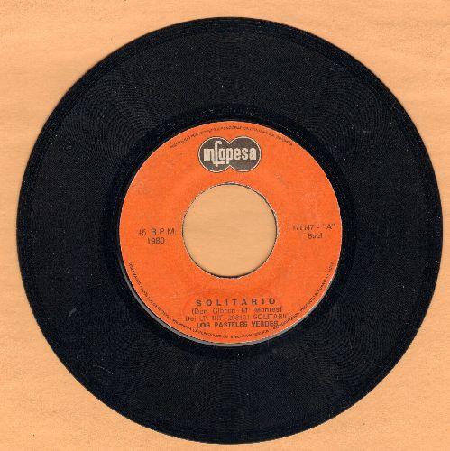 Los Pasteles Verdes - Solitario/Enganada (Peruvian Pressing, sung in Spanish) - EX8/ - 45 rpm Records