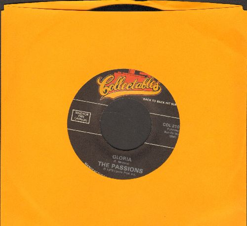 Passions - Gloria/Hushabye (by The Mystics on flip-side) (re-issue) - NM9/ - 45 rpm Records