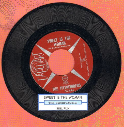 Pathfinders - Bull Run/Sweet Is The Woman (US Pioneer Era Folk two-sider) (with juke box label) - NM9/ - 45 rpm Records