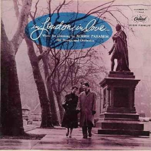 Paramor, Norrie, His Strings & Orchestra - In London, In Love…: The Nearness Of You, Stairway To The Stars, Stardust, Embraceable You, Deep Purple, The Very Thought Of You (Vinyl LP record - turquoise label first issue) - EX8/EX8 - LP Records
