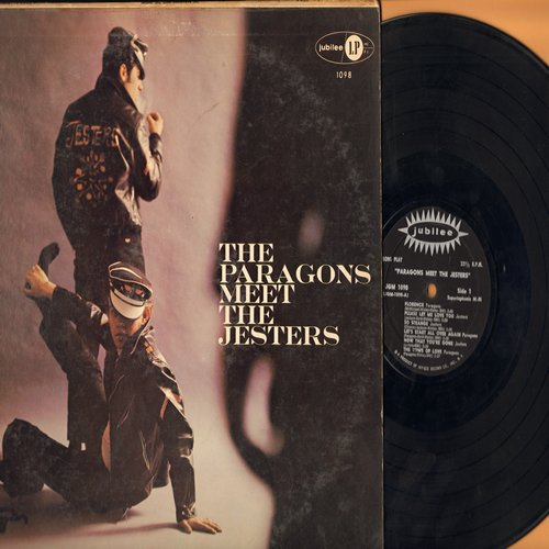 Paragons, Jesters - The Paragons Meet The Jesters: Florence, So Strange, Hey Little School Girl, The Vow Of Love (Vinyl MONO LP record, black label first pressing) - EX8/VG7 - LP Records