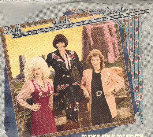 Parton, Dolly, Linda Ronstadt, Emmylou Harris - To Know Him Is To Love Him/Farther Along (with picture sleeve) - NM9/EX8 - 45 rpm Records