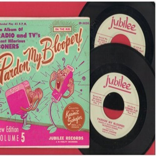 Schafer, Kermit - Pardon My Blooper! - New Edition Volume 5 - gate-fold album with 2 extended play 7-inch vinyl EP records - EX8/EX8 - 45 rpm Records