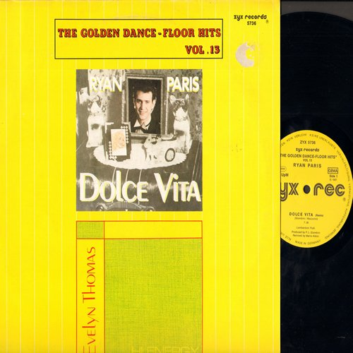 Paris, Ryan, Evlyn Thomas - Dolce Vita (7:30 minutes)/Hi Energy (7:50 minutes) (12 inch 45 rpm Maxi Single, German Pressing with picture cover) - M10/EX8 - Maxi Singles