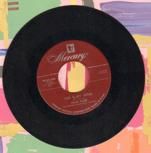 Page, Patti - This Is My Song/Butterflies - VG7/ - 45 rpm Records