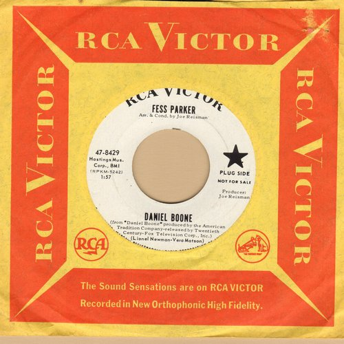 Parker, Fess - Daniel Boone/The Ballad Of Davey Crockett (DJ advance pressing with RCA company sleeve) - NM9/ - 45 rpm Records