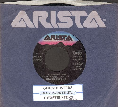 Parker, Ray Jr. - Ghostbusters/Ghostbusters (Instrumental)(with juke box label and company sleeve) - VG7/ - 45 rpm Records