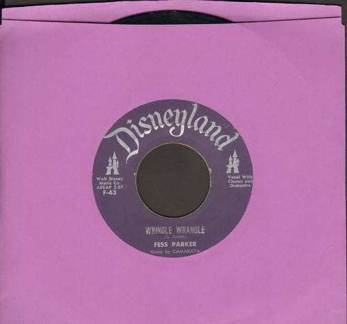 Parker, Fess - Wringle Wrangle/The Ballad Of John Colter - VG7/ - 45 rpm Records
