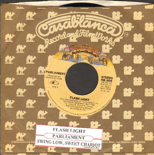 Parliament - Flash Light/Swing Down, Sweet Chariot (with Casablanca company sleeve and juke box label) - NM9/ - 45 rpm Records
