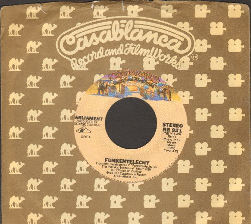 Parliament - Funkentelechy (Parts 1 + 2) (with Casablanca company sleeve) - EX8/ - 45 rpm Records