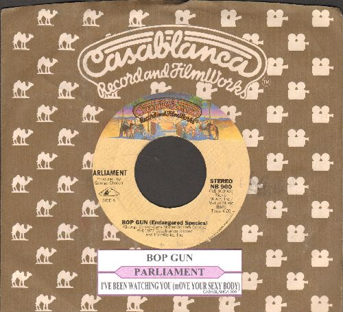 Parliament - Bop Gun/I've Been Watching You (with juke box label and Casablanca company sleeve) - EX8/ - 45 rpm Records