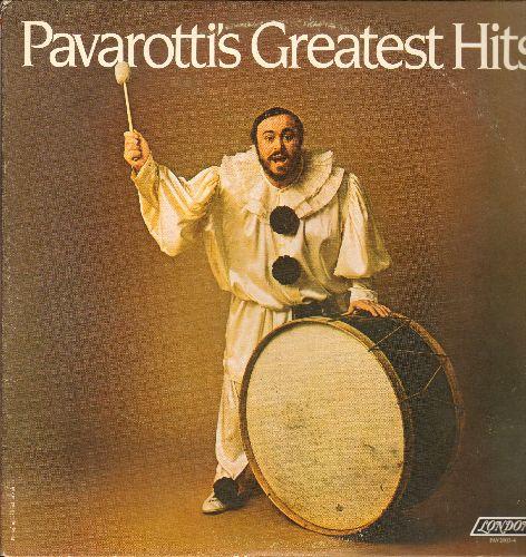 Pavarotti, Luciano - Pavarotti's Greatest: La Donna Mobile, Recondita Armonia, Ave Maria, Vanne O Rosa Fortunata, Funiculi Funicula (2 Vinyl STEREO LP records, gate-fold cover) - NM9/EX8 - LP Records