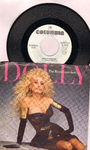 Parton, Dolly - The River Unbroken (double-A-sided DJ advance pressing with picture sleeve) - NM9/EX8 - 45 rpm Records
