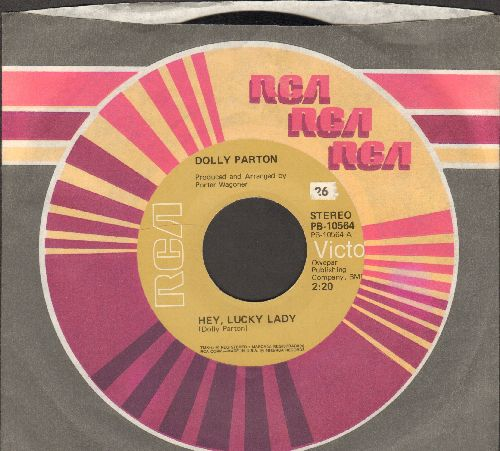 Parton, Dolly - Hey, Lucky Lady/Most Of All, Why (with RCA company sleeve) - EX8/ - 45 rpm Records