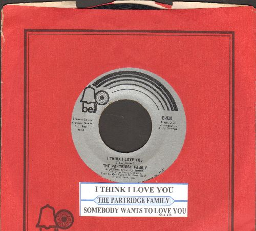 Partridge Family - I Think I Love You/Somebody Wants To Love You (with juke box lable and Bell company sleeve) - VG7/ - 45 rpm Records