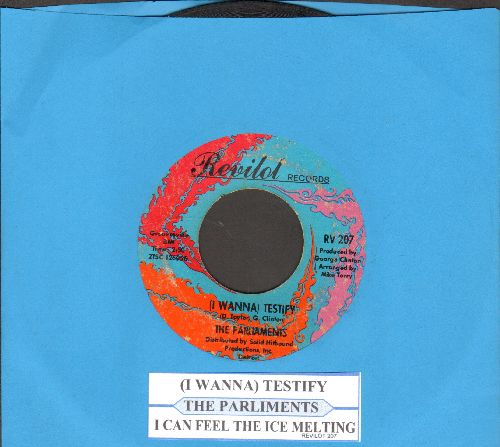 Parliaments - (I Wanna) Testify/I Can Feel The Ice Melting (with juke box label) - VG7/ - 45 rpm Records