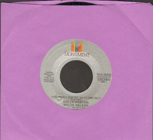 Parton, Dolly & Willie Nelson - Everything's Beautiful (In It's Own Way)/Put It Off Until Tomorrow - NM9/ - 45 rpm Records