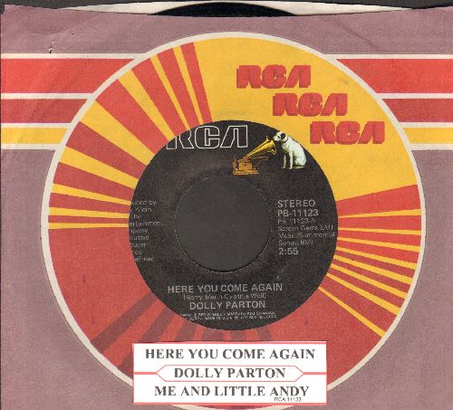 Parton, Dolly - Here You Come Again/Me And Little Andy (with RCA company sleeve and juke box label) - EX8/ - 45 rpm Records