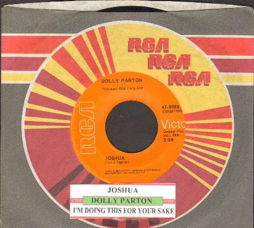 Parton, Dolly - Joshua/I'm Doing This For Your Sake (with juke box label and company sleeve) - VG7/ - 45 rpm Records